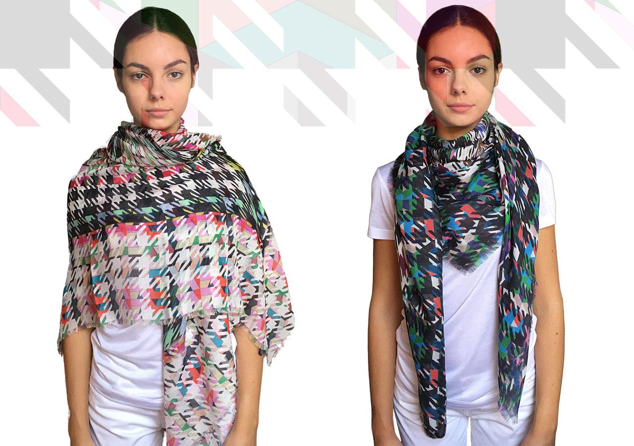 Italian modal+cashmere large shawls