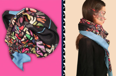 Manufacturers of silk scarves Italy